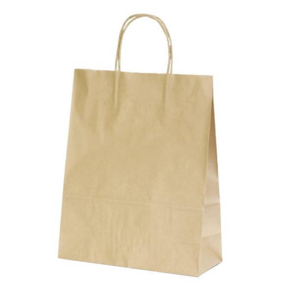 T-X 自動紐手提袋 紙袋 紙丸紐タイプ 260×110×330mm 200枚 茶無地 1576 【代引不可】【北海道・沖縄・離島配送不可】