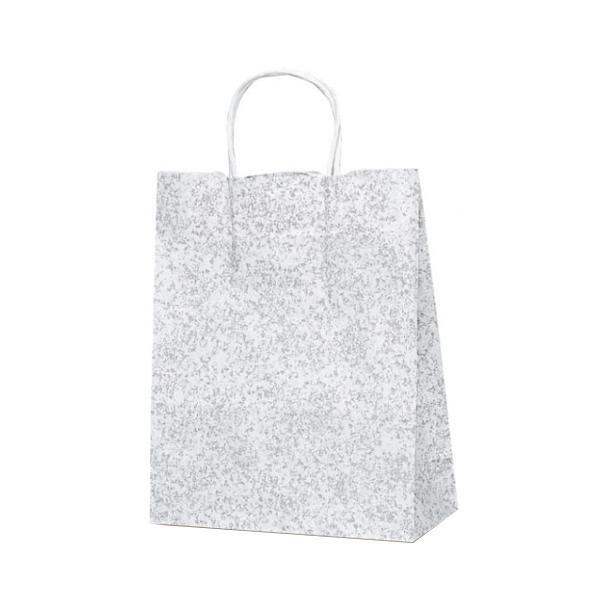 T-X 自動紐手提袋 紙袋 紙丸紐タイプ 260×110×330mm 200枚 フロスティ(グレー) 1589 【代引不可】【北海道・沖縄・離島配送不可】