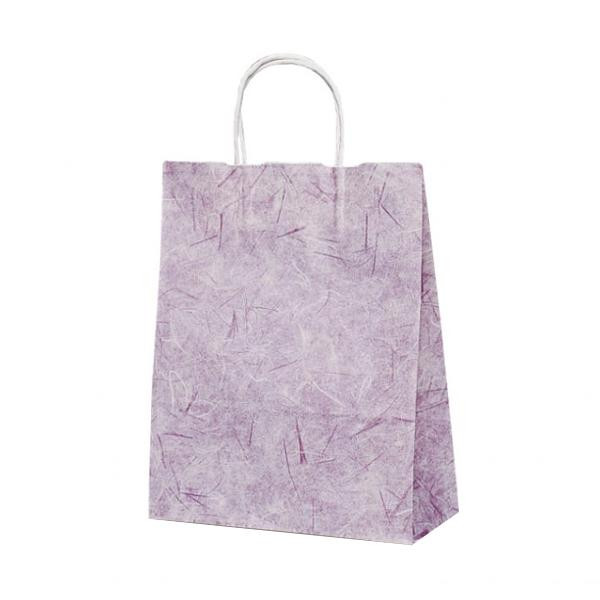 T-X 自動紐手提袋 紙袋 紙丸紐タイプ 260×110×330mm 200枚 彩流(紫) 1591 【代引不可】【北海道・沖縄・離島配送不可】