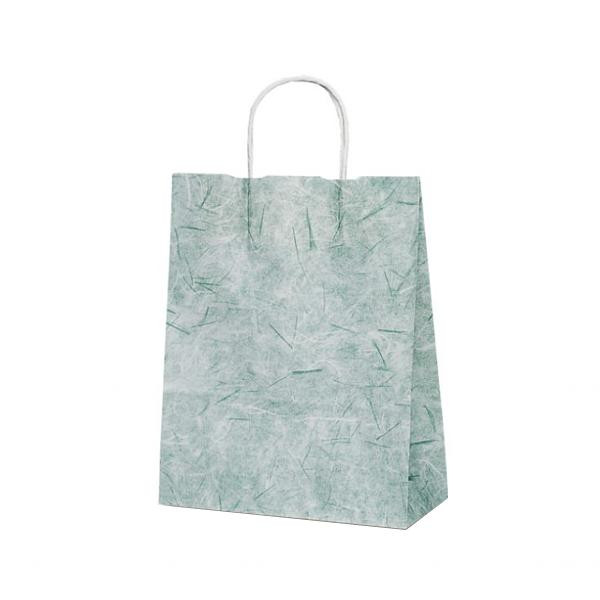 T-X 自動紐手提袋 紙袋 紙丸紐タイプ 260×110×330mm 200枚 彩流(緑) 1593 【代引不可】【北海道・沖縄・離島配送不可】