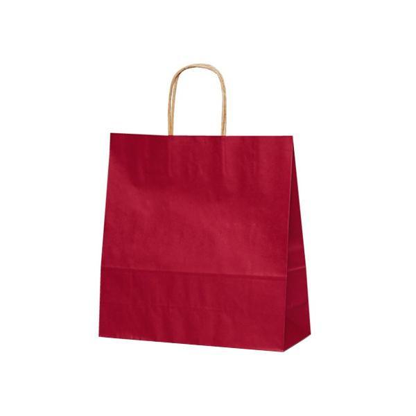 T-6 自動紐手提袋 紙袋 紙丸紐タイプ 320×110×330mm 200枚 カラー(赤) 1654 【代引不可】【北海道・沖縄・離島配送不可】