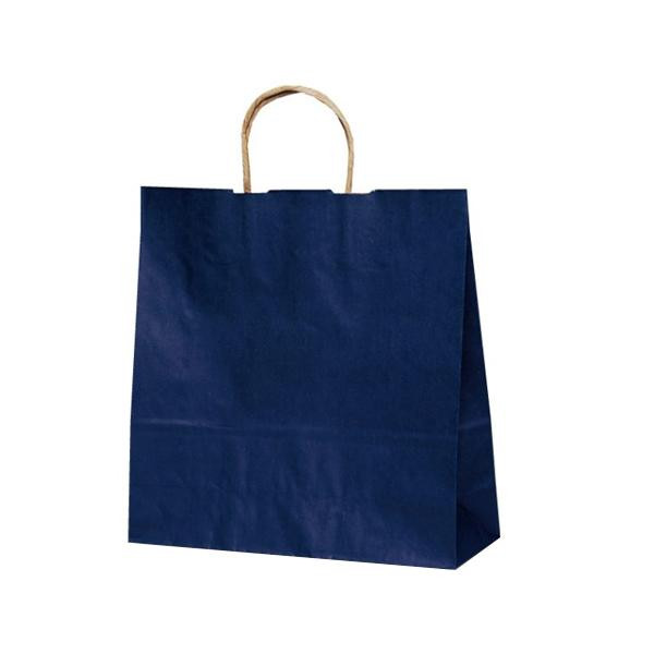 T-6 自動紐手提袋 紙袋 紙丸紐タイプ 320×110×330mm 200枚 カラー(紺) 1674 【代引不可】【北海道・沖縄・離島配送不可】