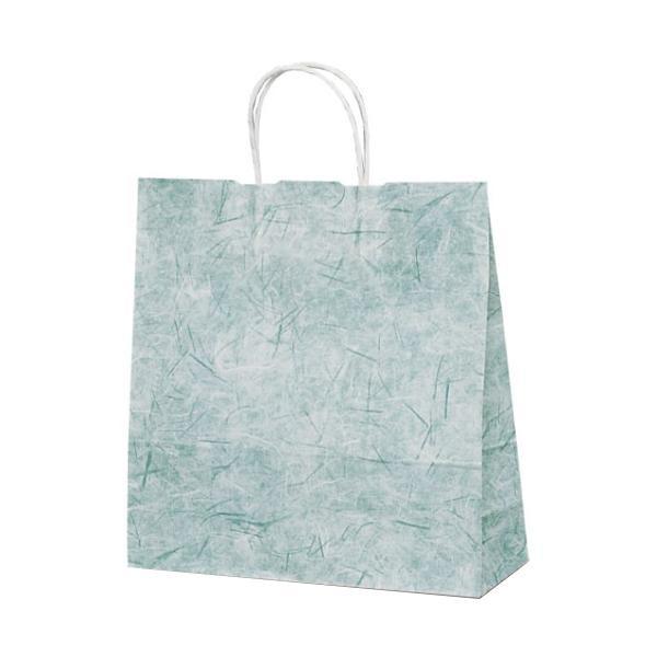 T-6 自動紐手提袋 紙袋 紙丸紐タイプ 320×110×330mm 200枚 彩流(緑) 1644 【代引不可】【北海道・沖縄・離島配送不可】