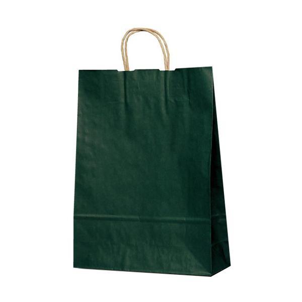 T-8 自動紐手提袋 紙袋 紙丸紐タイプ 320×110×430mm 200枚 カラー(緑) 1864 【代引不可】【北海道・沖縄・離島配送不可】