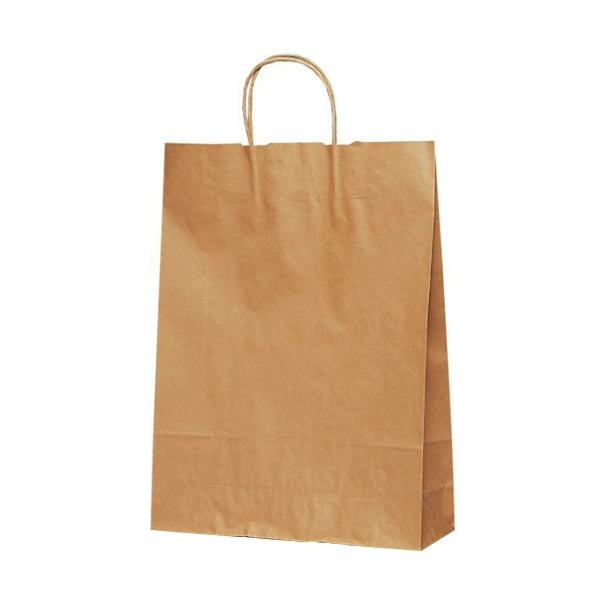 T-8 自動紐手提袋 紙袋 紙丸紐タイプ 320×110×430mm 200枚 茶無地 1896 【代引不可】【北海道・沖縄・離島配送不可】