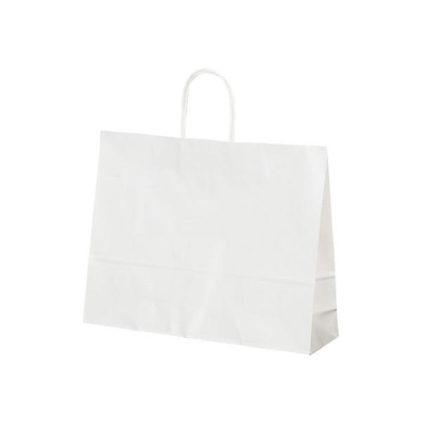 T-Y 自動紐手提袋 紙袋 紙丸紐タイプ 415×110×320mm 200枚 白無地 1532 【代引不可】【北海道・沖縄・離島配送不可】