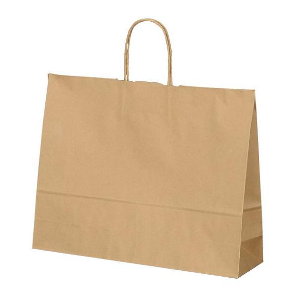 T-Y 自動紐手提袋 紙袋 紙丸紐タイプ 415×110×320mm 200枚 茶無地 1533 【代引不可】【北海道・沖縄・離島配送不可】