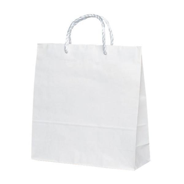 T-6 自動紐手提袋 紙袋 PP紐タイプ 320×115×320mm 200枚 白無地 1638 【代引不可】【北海道・沖縄・離島配送不可】