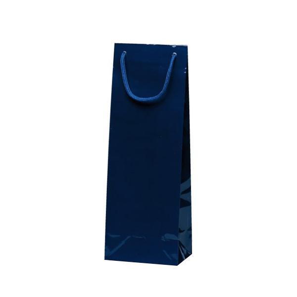スリムバッグ 手提袋 130×90×360mm 100枚 ネイビー 1527 【代引不可】【北海道・沖縄・離島配送不可】
