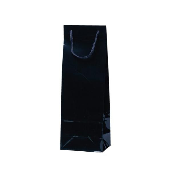 スリムバッグ 手提袋 130×90×360mm 100枚 ブラック 5934 【代引不可】【北海道・沖縄・離島配送不可】