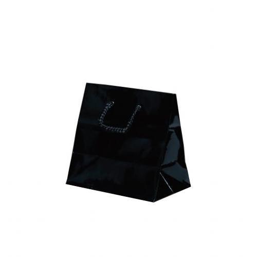 キュートバッグ 手提袋 120×70×115mm 100枚 ブラック 5933 【代引不可】【北海道・沖縄・離島配送不可】