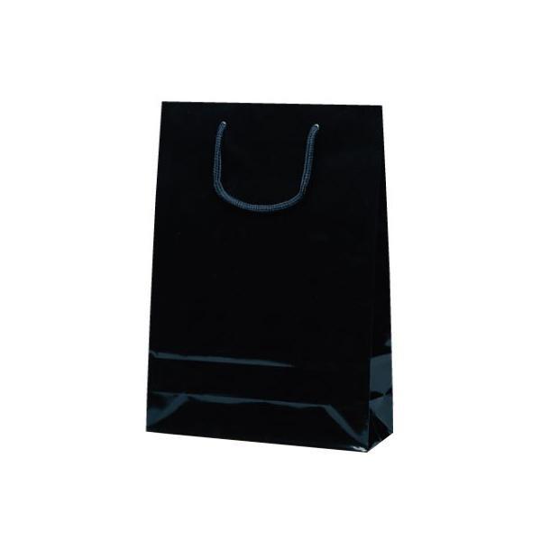 ナイスバッグ 手提袋 225×80×320mm 50枚 ブラック 1151 【代引不可】【北海道・沖縄・離島配送不可】