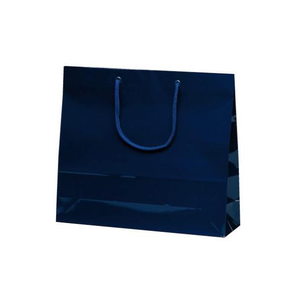 ファインバッグ 手提袋 330×100×290mm 50枚 ネイビー 1174 【代引不可】【北海道・沖縄・離島配送不可】