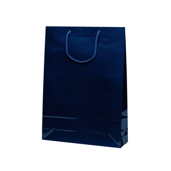 エクセルバッグ 手提袋 330×100×450mm 50枚 ネイビー 1104 【代引不可】【北海道・沖縄・離島配送不可】