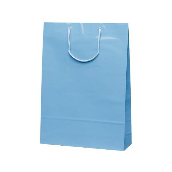 エクセルバッグ 手提袋 330×100×450mm 50枚 ブルー 1106 【代引不可】【北海道・沖縄・離島配送不可】
