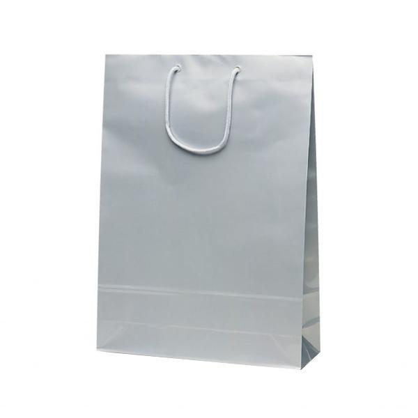 エクセルバッグ 手提袋 330×100×450mm 50枚 シルバー 1102 【代引不可】【北海道・沖縄・離島配送不可】