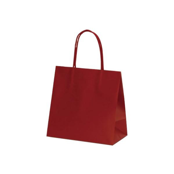 マットバッグ(SS) 手提袋 220×120×220mm 100枚 ワイン 1076 【代引不可】【北海道・沖縄・離島配送不可】