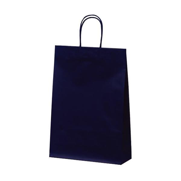 マットバッグ(L) 手提袋 320×110×430mm 50枚 ネイビー 1066 【代引不可】【北海道・沖縄・離島配送不可】