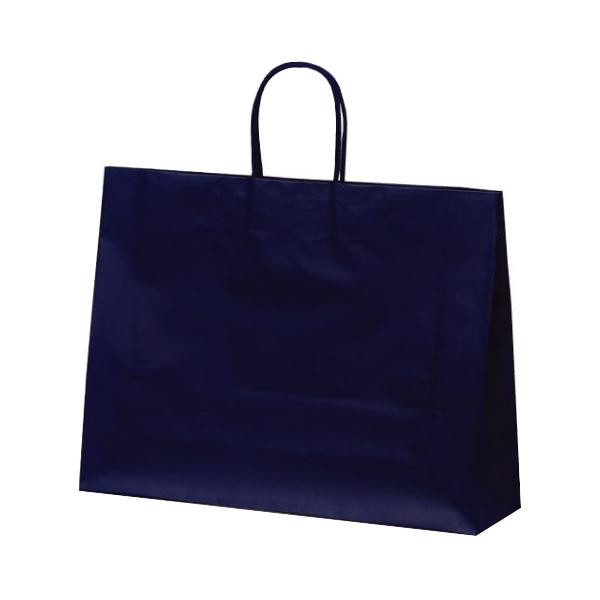 マットバッグ(Y) 手提袋 430×110×320mm 50枚 ネイビー 1067 【代引不可】【北海道・沖縄・離島配送不可】