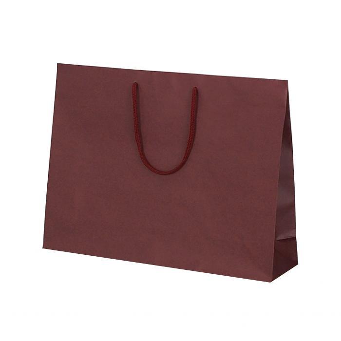 T-Y カラークラフト 紙袋 430×110×320mm 100枚 ワイン 1040 【代引不可】【北海道・沖縄・離島配送不可】