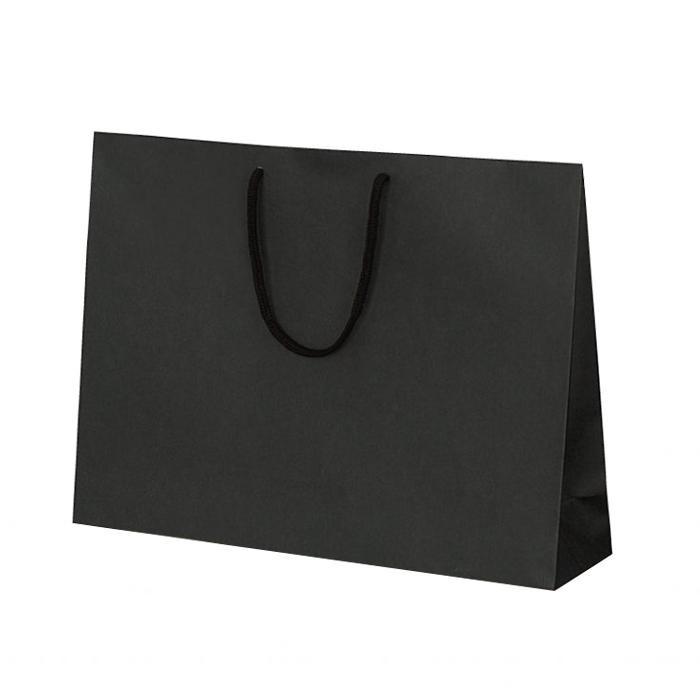 T-Y カラークラフト 紙袋 430×110×320mm 100枚 ブラック 1043 【代引不可】【北海道・沖縄・離島配送不可】