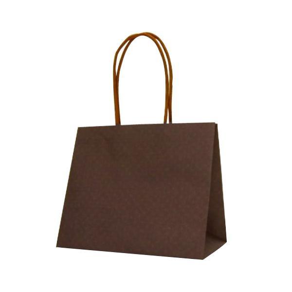 ハンディーバッグ テミニン 紙袋 180×100×150mm 100枚 ブラウン 1471 【代引不可】【北海道・沖縄・離島配送不可】