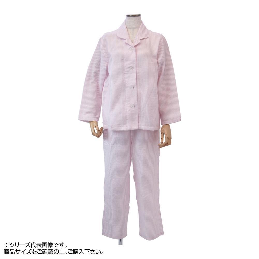 内野 uchino マシュマロガーゼストライプレディスパジャマ M RPZ18029 P(ピンク) 【代引不可】【北海道・沖縄・離島配送不可】