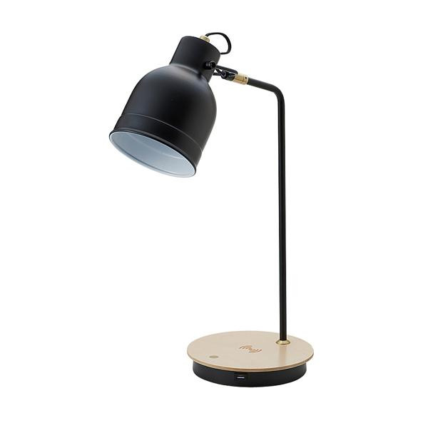 LEDテーブルタッチランプ ワイヤレス充電機能付 BK 20931 【代引不可】【北海道・沖縄・離島配送不可】