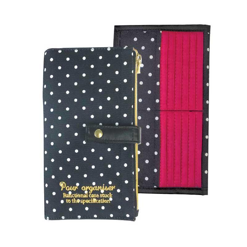 アットファースト カードケース プレーンドット ブラック AF7106 【代引不可】