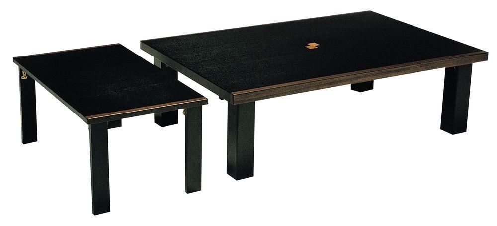 【送料無料】日本製 讃岐の和座 座卓 セレブ小卓付 サイズ 120-165 天板表面材 タモ TA15-138 国産品【代引不可】
