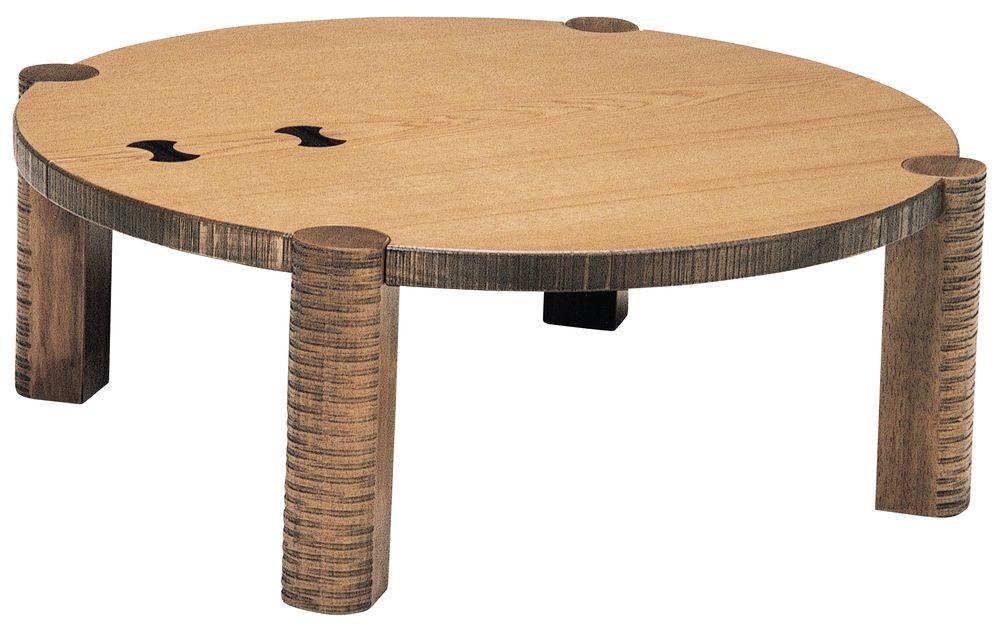 【送料無料】日本製 讃岐の和座 座卓 ちぎり 丸 サイズ 105 天板表面材 ナラ象嵌入り TA15-172 国産品【代引不可】