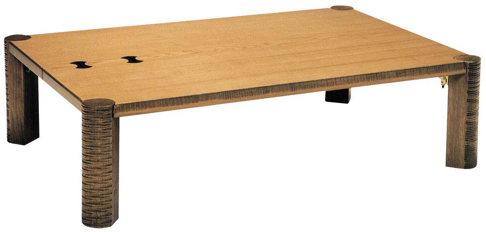 【送料無料】日本製 讃岐の和座 座卓 ちぎり 角 サイズ 150 天板表面材 ナラ象嵌入り TA15-176 国産品【代引不可】
