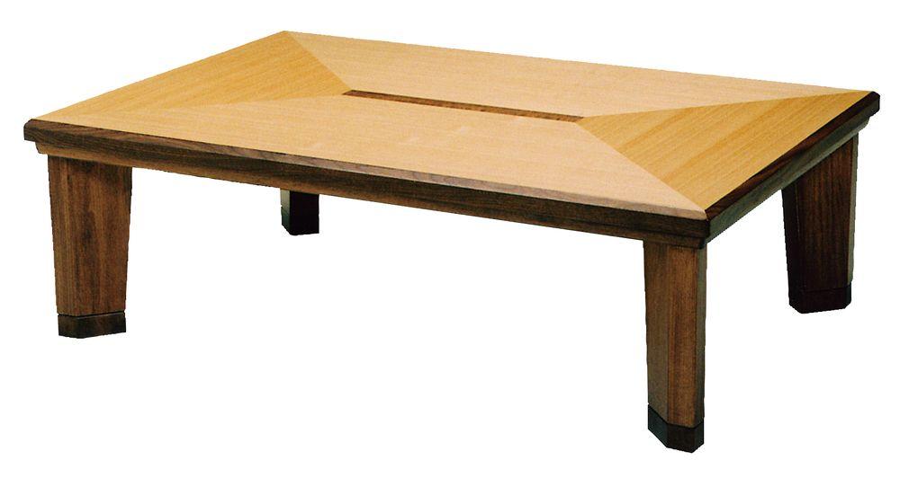 【送料無料】日本製 讃岐の和座 座卓 ライン サイズ 150 天板表面材 タモ、ウォールナット TA15-180 国産品【代引不可】