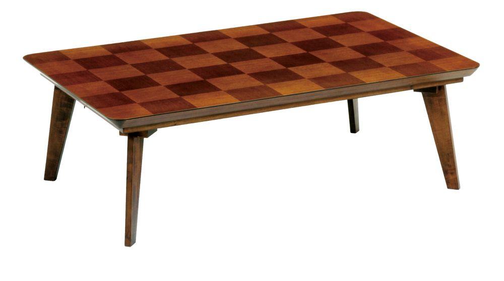 【送料無料】日本製 讃岐の和座 家具調こたつ 市松 ブラウン サイズ 120 天板表面材 タモ市松 国産品【代引不可】
