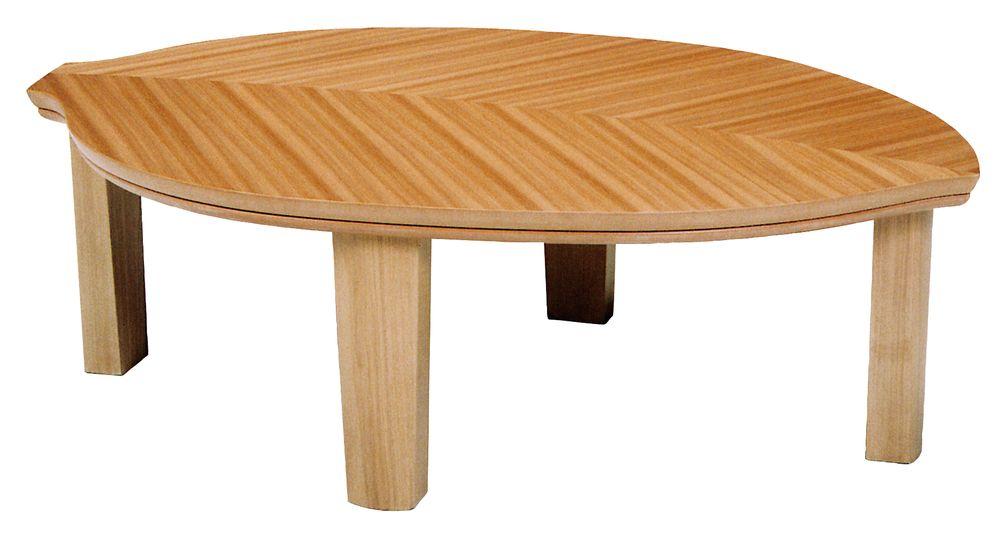 【送料無料】日本製 讃岐の和座 家具調こたつ リーフ サイズ 120 天板表面材 ニレ 国産品【代引不可】