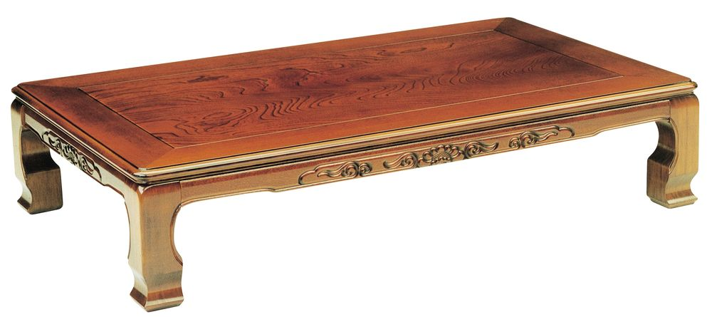 【送料無料】日本製 讃岐の和座 座卓 風月 サイズ 180x90 天板表面材 ケヤキ TA15-56 国産品【代引不可】