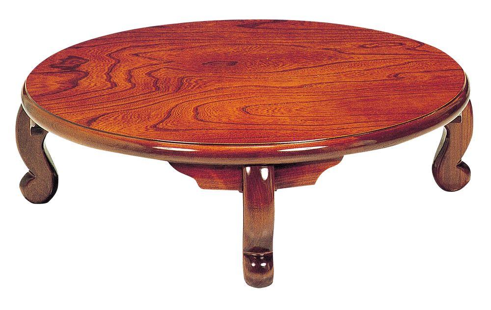 【送料無料】日本製 讃岐の和座 座卓 まどか サイズ 105 天板表面材 ケヤキ TA15-74 国産品【代引不可】