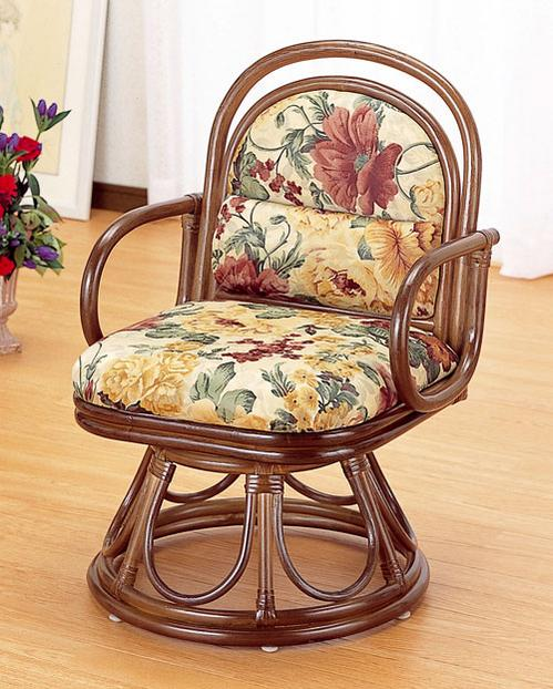 ラタン 安楽座椅子(回転タイプ)S49B【代引不可】【北海道・沖縄・離島配送不可】