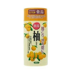 日本製 japan 紀陽除虫菊 ノボピン 薬湯 柚 ゆず(にごり湯) 480gボトル〔まとめ買い20個セット〕 N-0018【代引不可】