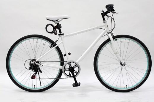 【送料無料】TOP ONE(トップワン) 26インチ クロスバイク 6段変速 ホワイト MCR266-29-WH【代引不可】