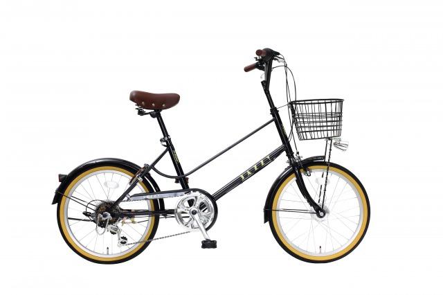 【送料無料】JAZZY 20インチ 小径自転車 外装6段変速 カゴ・カギ・オートライト付き ブラック シティサイクル 小径車 YMV206HD-77-BK【代引不可】
