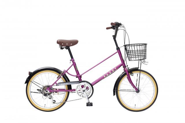 【送料無料】JAZZY 20インチ 小径自転車 外装6段変速 カゴ・カギ・オートライト付き ボルドー シティサイクル 小径車 YMV206HD-77-BO【代引不可】