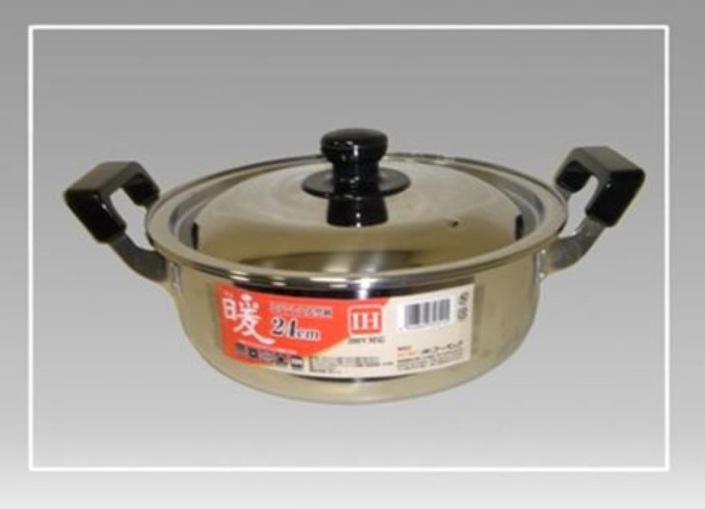【送料無料】暖 ステンレス大型鍋 24cm 〔まとめ買い6個セット〕 5120