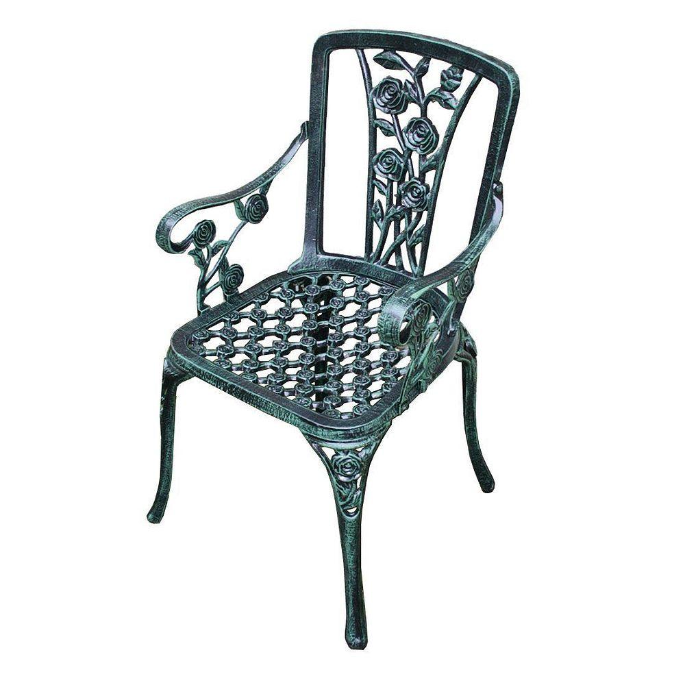 【送料無料】ジャービス商事 アルミ鋳物 ガーデンチェア ヘミングウェイチェア 13039【代引不可】