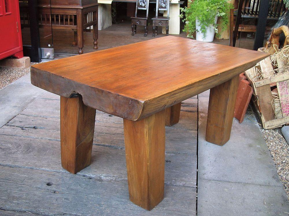 【送料無料】ジャービス商事 天然木無垢材 ルートコーヒーテーブルS 13437 木製 アンティーク調【代引不可】