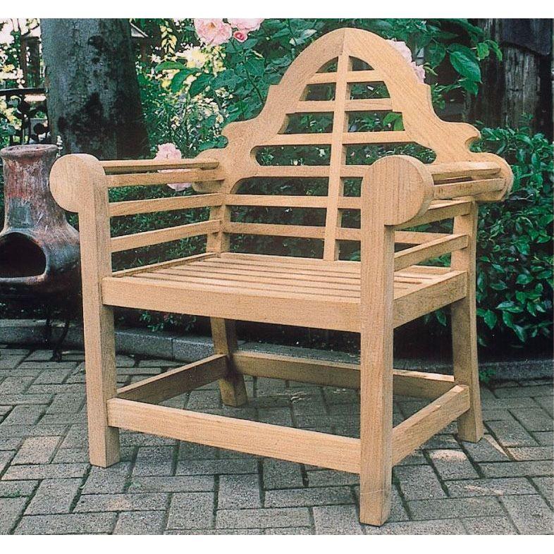 【送料無料】ジャービス商事 ガーデンチェア 天然木無垢材 貴族チェア  20719 木製【代引不可】