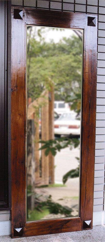 【送料無料】ジャービス商事 アンティーク調 天然木無垢材 大鏡 35248 木製【代引不可】