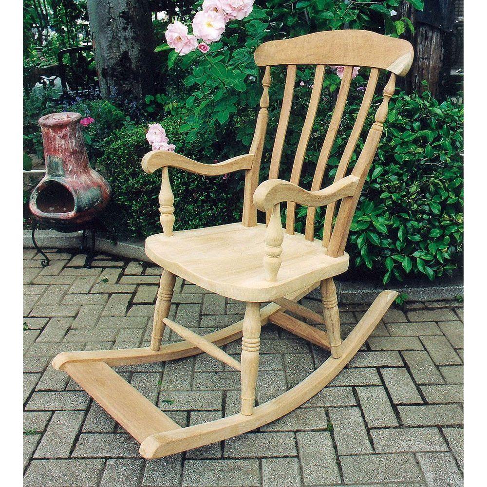 ジャービス商事 ガーデンチェア 天然木無垢材 ロッキングチェア  36315 木製【代引不可】【北海道・沖縄・離島配送不可】
