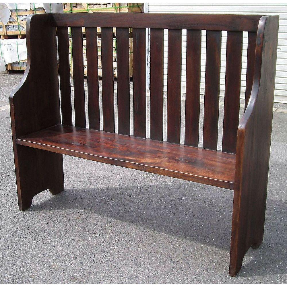 【送料無料】ジャービス商事 天然木無垢材 ウェイティングベンチ 36325 木製 アンティーク調【代引不可】