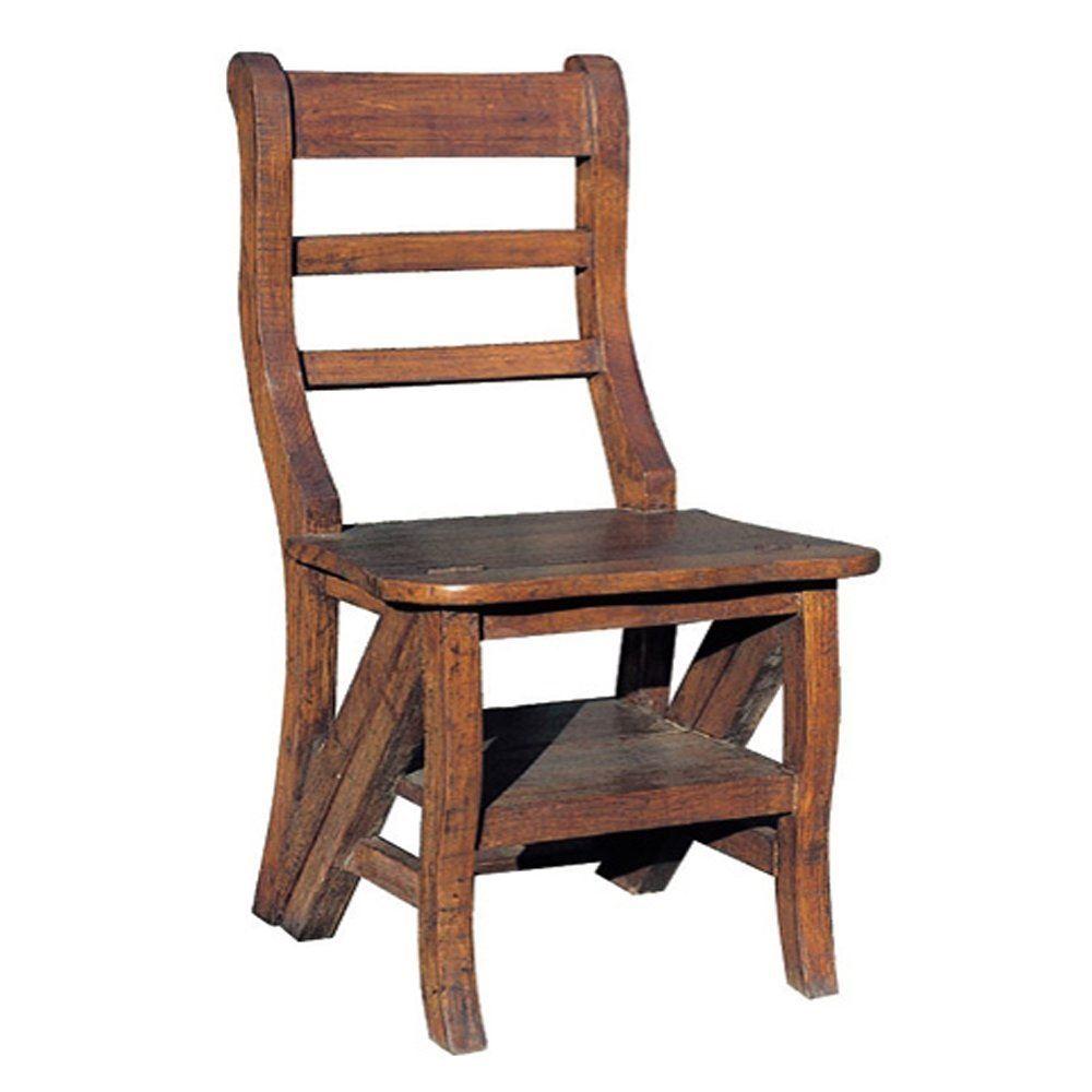 【送料無料】ジャービス商事 ダイニングチェア 天然木無垢材 ステップチェア 36327 木製 アンティーク調【代引不可】
